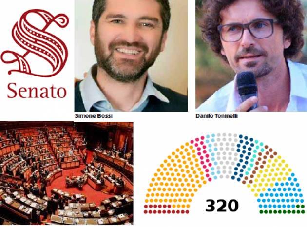 I parlamentari cremonese eletti in Senato sono:  Simone Bossi (Lega ) e Danilo Toninelli (M5S)