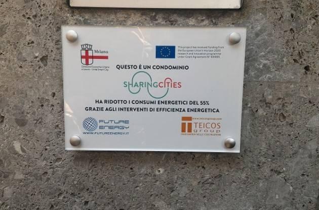 Milano SHARING CITIES. INAUGURATO  PRIMO EDIFICIO  QUARTIERE A BASSO IMPATTO ENERGETICO