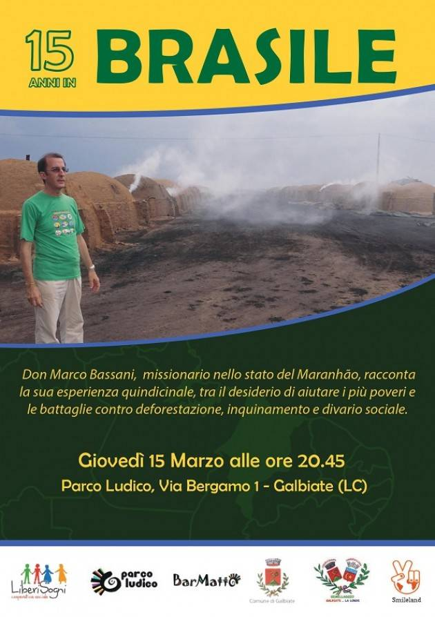 Galbiate (Lc) Testimonianza sul Brasile di Don Marco Bassani il 15/3