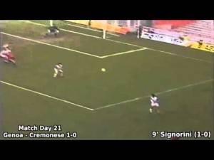 Il Tabellino GENOA-CREMONESE 1-0  Campionato di serie A 1993-1994 di Giorgio Barbieri
