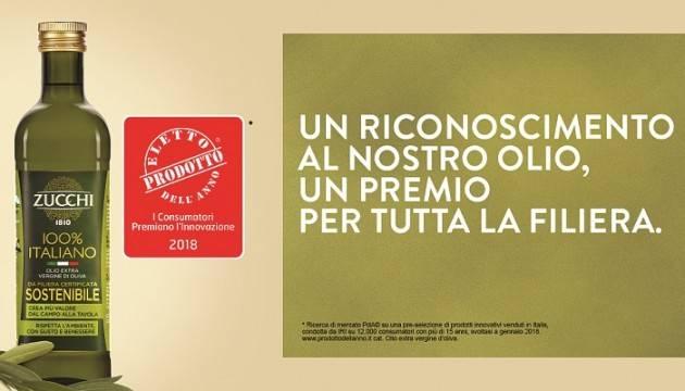 L'Olio Extra Vergine Sostenibile Zucchi  è  'Eletto Prodotto dell'Anno 2018'