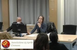 (Video) Cremona  Interesse e partecipazione  all'incontro con CHIARA BERGONZINI sulle donne della Costituente.