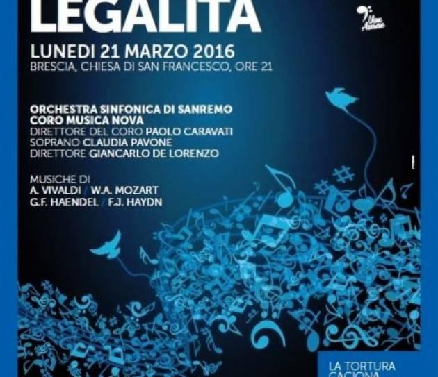 Brescia 'CONCERTO PER LA LEGALITÀ'