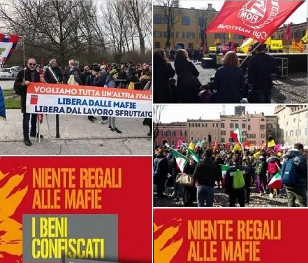 Anche la Cgil di Cremona  in p.zza a Mantova in ricordo  delle vittime di tutte le mafie