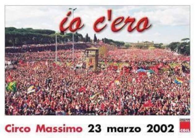 #AccaddeOggi II 23 marzo 2002 IO C'ERO a Roma alla manifestazione Cgil contro modifica articolo 18