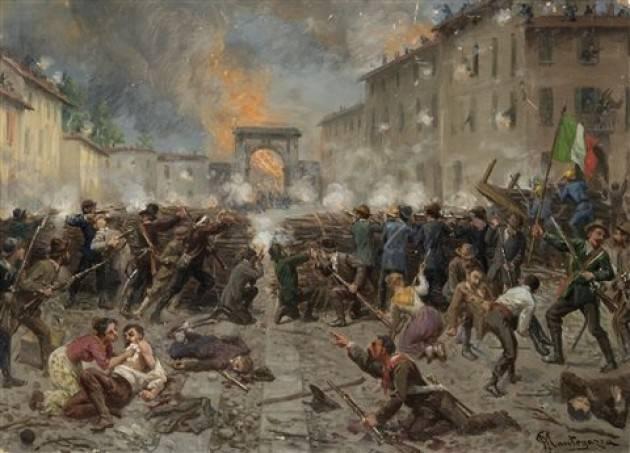#AccaddeOggi  22 marzo 1848 A Milano si concludono le 5 giornate. Gli austriaci si ritirano