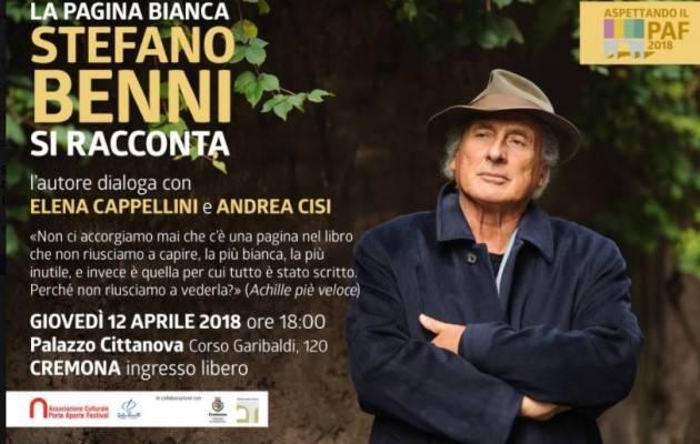 Aspettando il Porte Aperte Festival 2018 Stefano Benni si racconta il 12 aprile