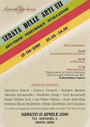 VII Serata delle Arti Organizzato da Ala Cremona dal 21 aprile al 1 maggio 2018