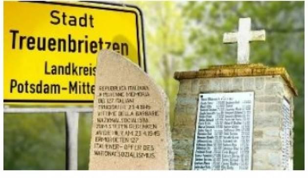 AISE BERLINO: IL 22 APRILE CERIMONIA DI COMMEMORAZIONE DELL'ECCIDIO DI TREUENBRIETZEN