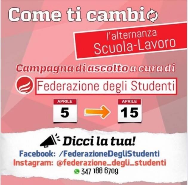 Federazione Degli Studenti  COME TI CAMBIO L'ALTERNANZA SCUOLA-LAVORO
