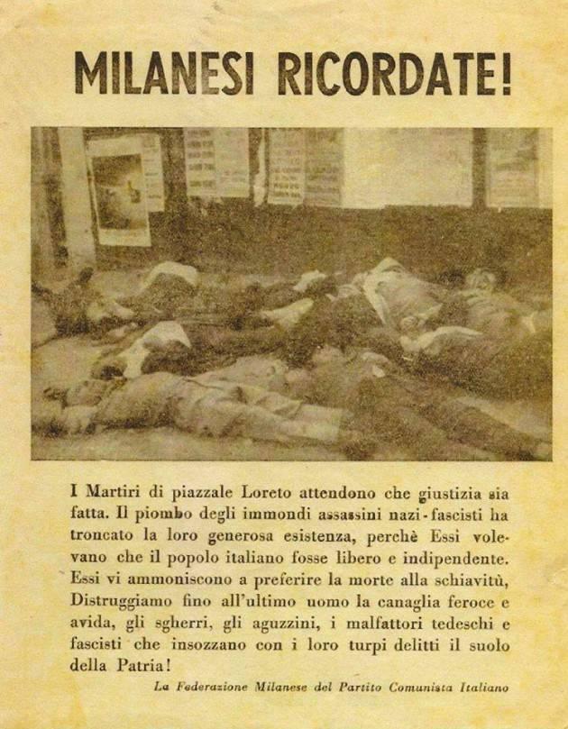 La strage nazifascista del 10 agosto 1944 di Piazzale Loreto a Milano