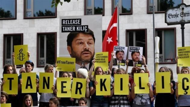 Il Presidente Amnesty Turchia in carcere da 300 giorni ringrazia per solidarietà