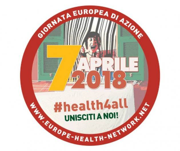 Milano 7 aprile: Giornata europea di azione 'Tutti per la salute'