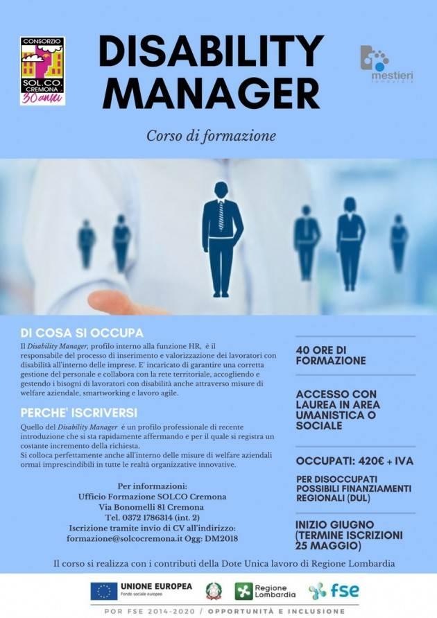 Cremona Welfare Disability manager e Maggiordomo aziendale: due corsi per lo sviluppo sociale