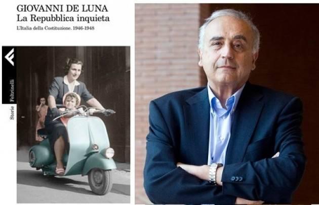 L'ECOLIBRI Caffè Letterario Crema Giovanni De Luna discute del suo libro 'La Repubblica inquieta'