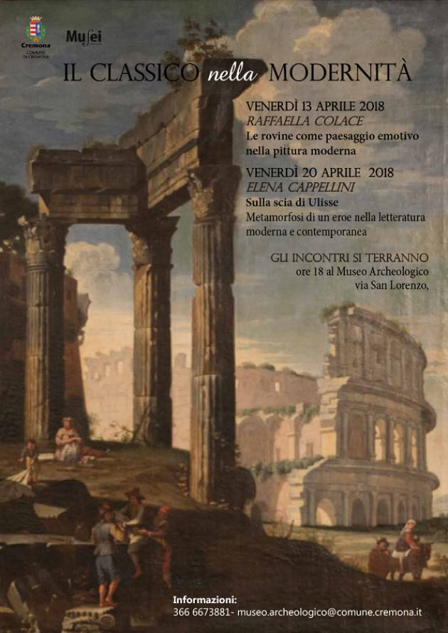 Il Classico nella Modernità: due incontri al Museo Archeologico