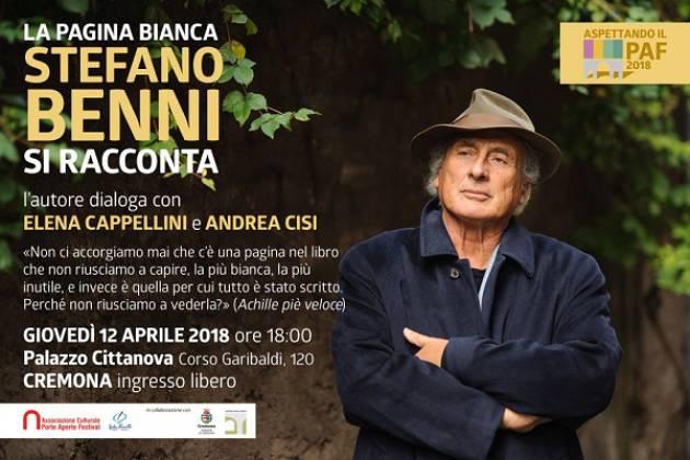 Domani Stefano Benni si racconta a Palazzo Cittanova