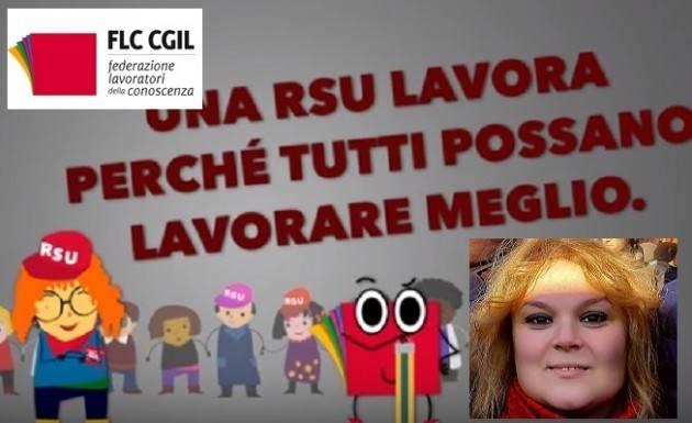 La Telefonata Laura Valenti (FLC Cgil Cremona): Il 17, 18 e 19 aprile  si vota per il rinnovo delle RSU Vota Cgil