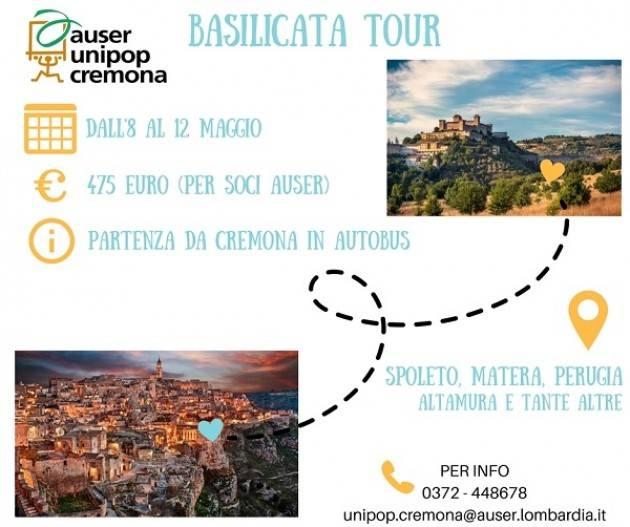 Basilicata on Tour 8-12- maggio : viaggia alla scoperta di Matera con Auser Unipop Cremona