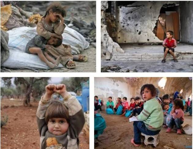 Siria NO alle violenze sui bambini La Costituzione italiana nell'art. 11 ripudia la guerra