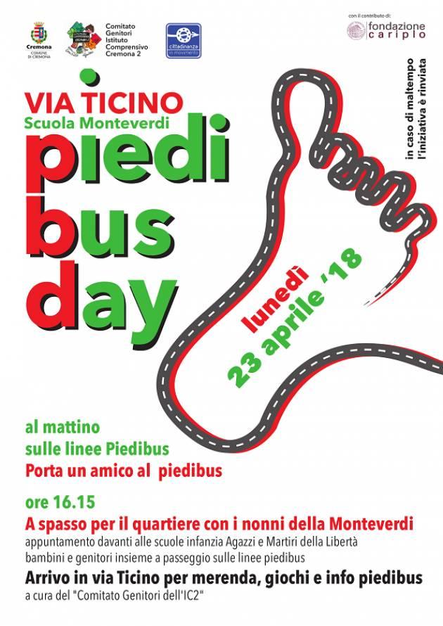 Torna il Piedibus Day al Quartiere Po di Cremona
