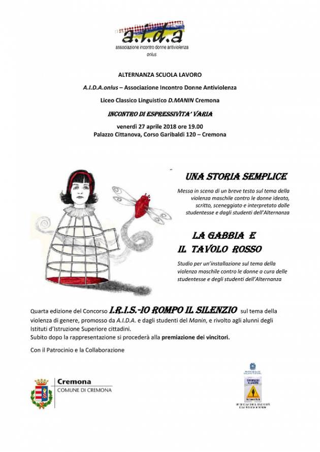 Cremona: incontro di espressività varia sul tema della violenza contro le donne