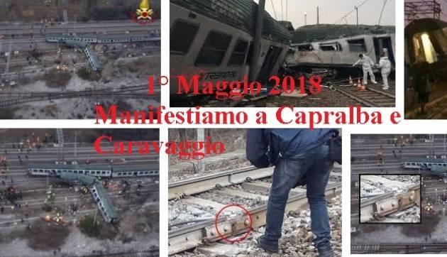 Dopo incidente Pioltello asta ferroviaria Cremona-Milano  commemora 1° maggio 2018