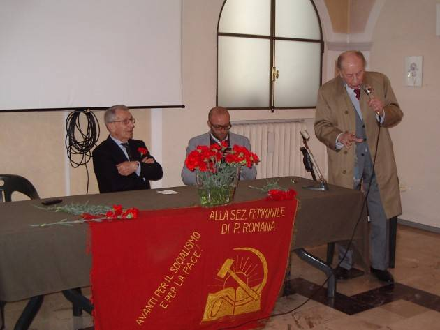 (Video) Cremona  Il funerale di Mario Coppetti . Il ricordo di diversi amici e compagni.