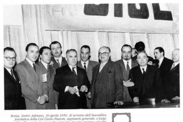 #AccaddeOggi  #30aprile 1950 Nasce a Roma la CISL con a capo Giulio Pastore