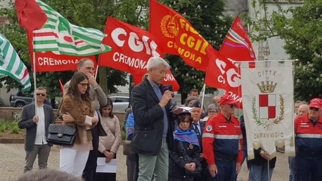 Cgil-Cisl-Uil Cremona Dopo Pioltello la commemorazione del  1° Maggio a Capralba e Caravaggio