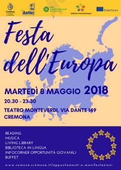 Cremona: martedì 8 maggio al Teatro Monteverdi la Festa dell'Europa
