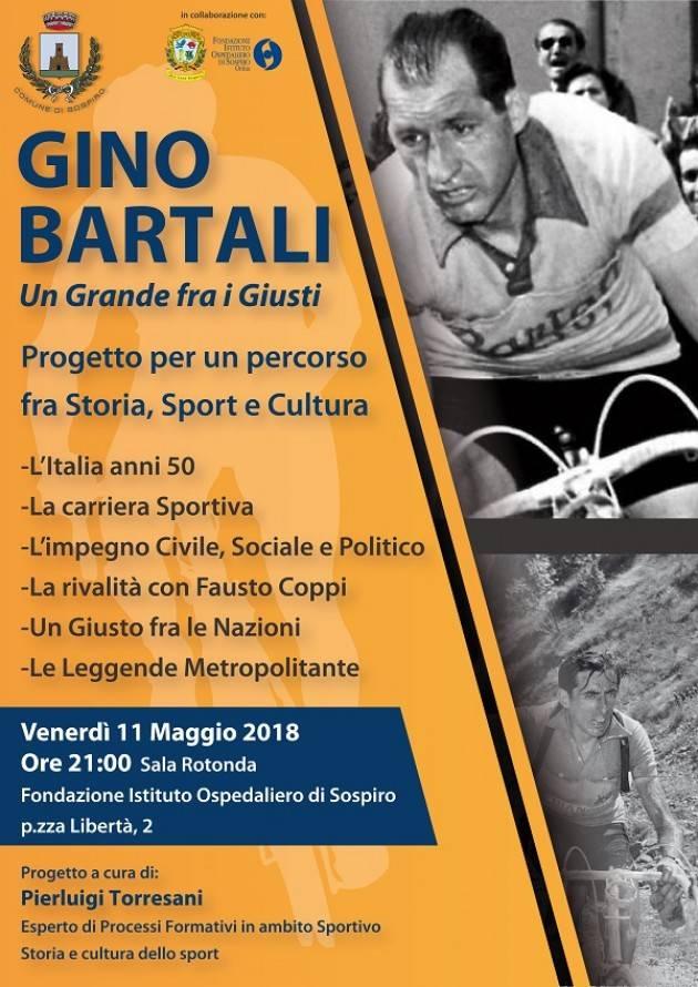 Sospiro dedica una serata al campione del ciclismo Gino Bartali il prossimo venerdì 11 maggio