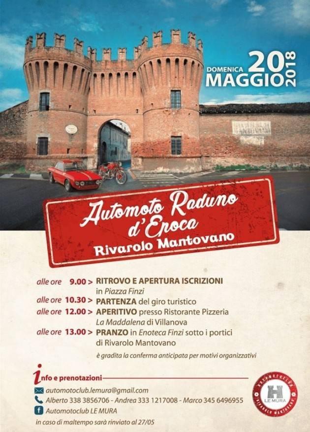 'CamminMangiando' e 'Moto Raduno d'Epoca' alla scoperta di Rivarolo Mantovano domenica 20 maggio