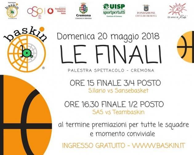 Cremona: le finali di Baskin domenica 20 maggio