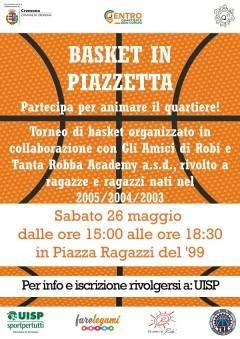 Cremona: sabato 26 maggio si gioca il torneo 'Basket in Piazzetta'