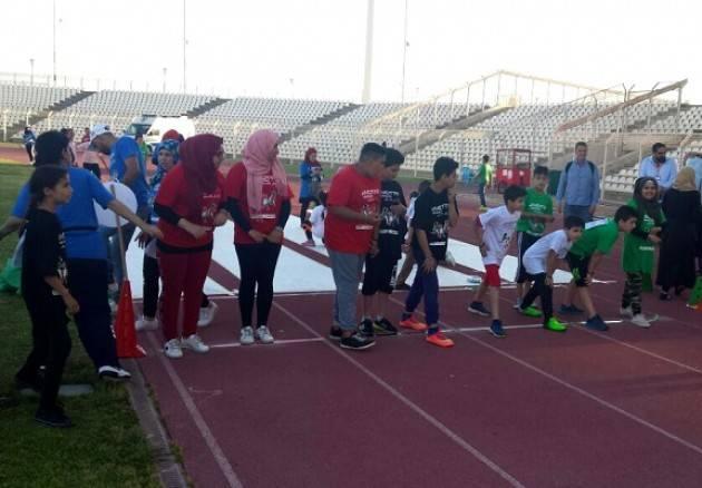 UISP Vivicittà a Sidone, in Libano, con 160 bambini dei campi profughi palestinesi: lo sport sociale per la pace