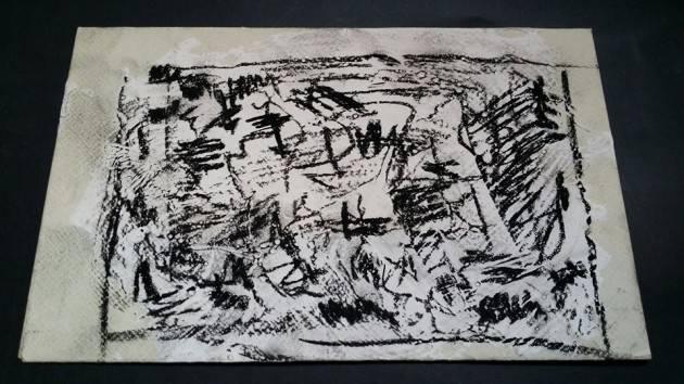 Il ritrovamento di una busta da lettera degli anni '50 con disegni di arte astratta di Christian Flammia