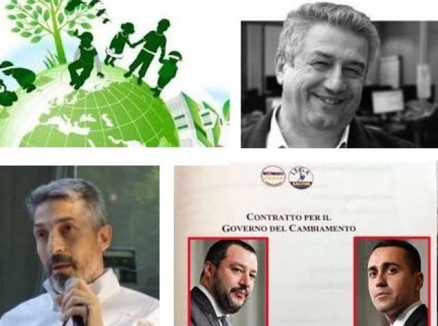 IL CONTRATTO DI MAIO-SALVINI IGNORA IL CLIMA E I TARGET DI PARIGI Mario Agostinelli e Roberto Meregalli