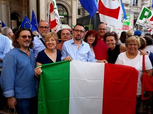 La delegazione del PD Cremonese a Milano per la Costituzione ed il sostegno a Mattarella