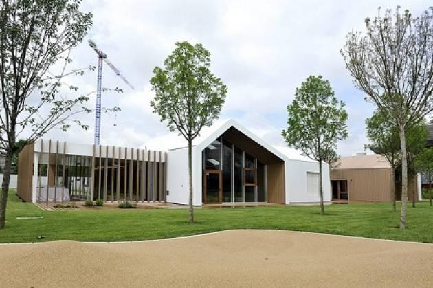 Milano CityLife Inaugurato 'BabyLife', il primo asilo nido comunale in legno immerso nel verde