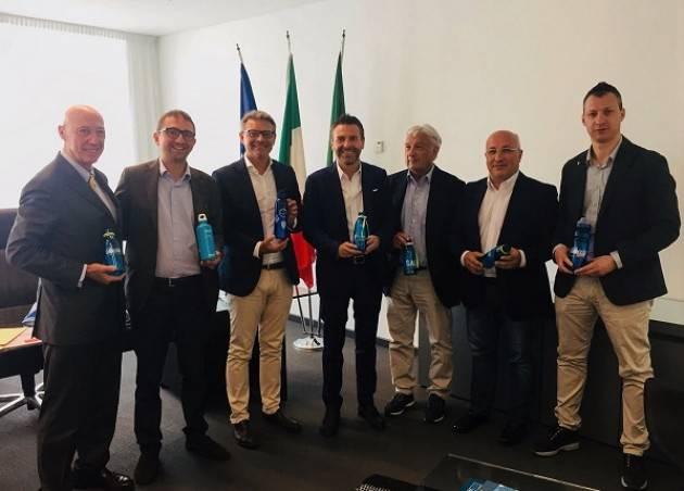 Padania Acque e Water Alliance – Acque di Lombardia - ricevute dall'Assessore regionale Foroni