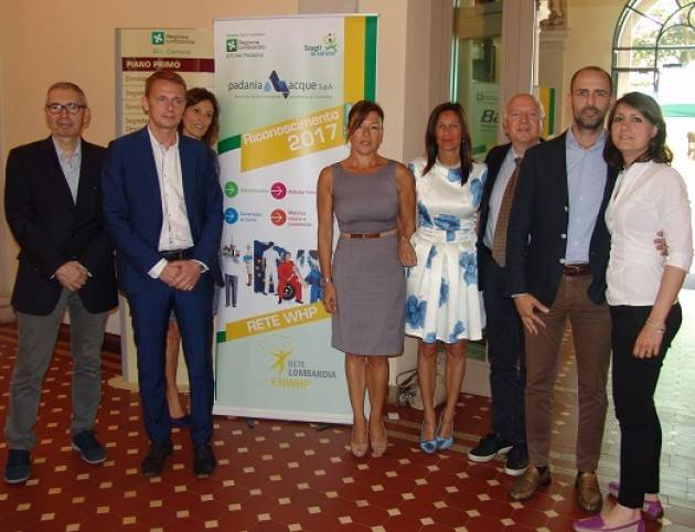 Padania Acque S.p.A. ha ricevuto il riconoscimento WHP – Workplace Health Promotion 2017