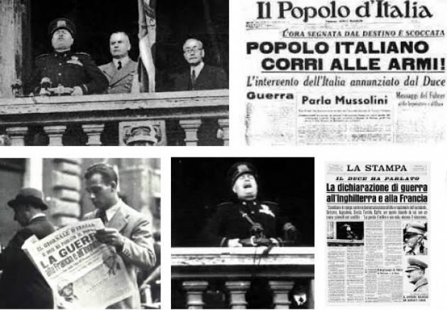AccaddeOggi  #10giugno 1940-L'Italia, alleata della Germania, dichiara guerra a Francia e Regno Unito