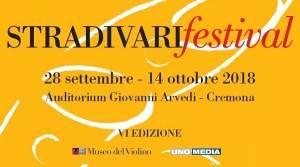 MDV Torna  lo STRADIVARIfestival 2018 dal  venerdì 28 settembre – domenica 14 ottobre 2018