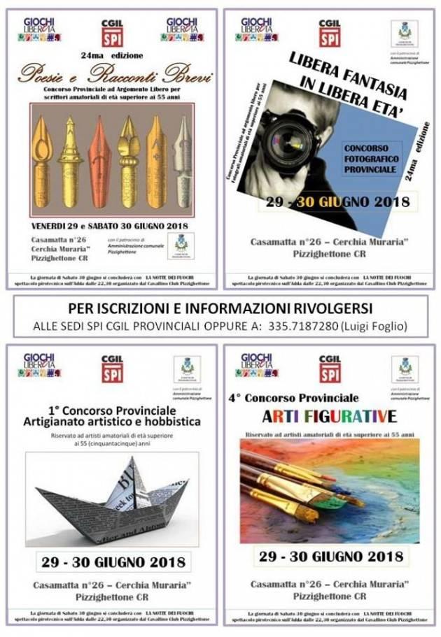 Pianeta Anziani Lo Spi-Cgil di Cremona organizza i 'Giochi di Liberetà' il 29 e 30 giugno a Pizzighettone