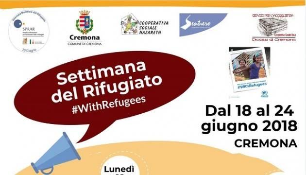Cremona: 'Settimana del Rifugiato' dal 18 al 24 giugno
