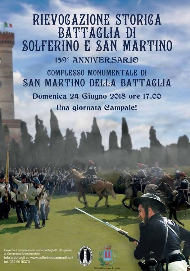 Domenica 24 giugno rievocazione della battaglia di Solferino e San Martino