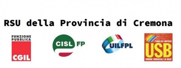 RSU della Provincia di Cremona: conferenza stampa del 21 giugno