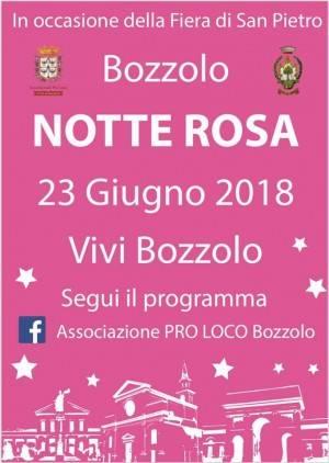 23 giugno la notte è rosa a Bozzolo