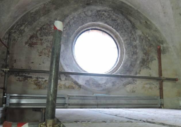 Crema Restituiti alla città dopo 4 mesi di lavori gli affreschi della sala d'ingresso alla Pietro Cemmo